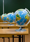 Globe on a table — Stock Photo