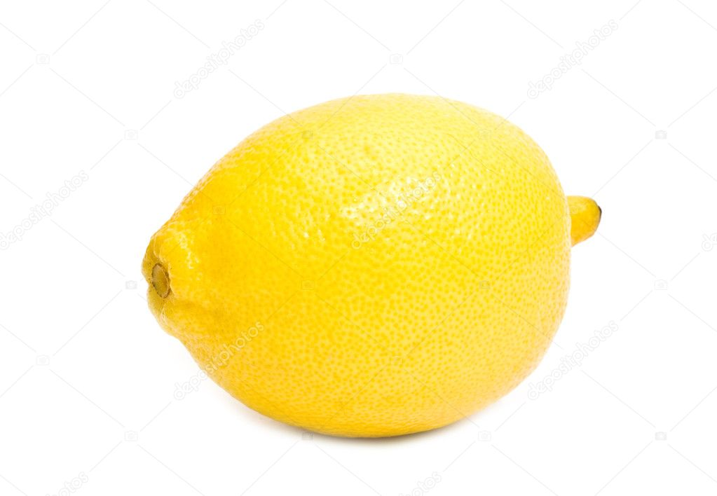 Lemon on a white background  Stock Photo #4119208