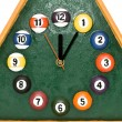 Clock is billiards — Stock Photo