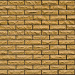 Even yellow, rough brick wall — Stock Photo #4128407