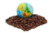 Eurostep en koffie — Stok fotoğraf