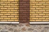 Wall parts a post — Stock Photo