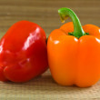 Yellow and red pepper — Stock Photo