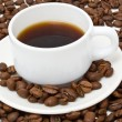 White cup with fragrant coffee - Foto de Stock  