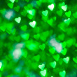 Green brilliant hearts — Stock Photo #4148872