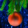 Red fir-tree toy - Stock Photo