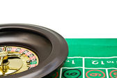 Wheel of roulette with a marble — Stock Photo