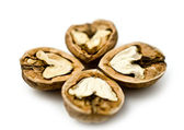 Halves of walnuts — Stock Photo