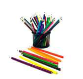Pencils in support and outside — Stock Photo