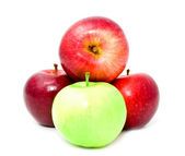 Heap from red and green apples — Stock Photo