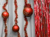 Brillantes bolas rojas — Foto de Stock