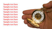 Zlaté hodiny je v rukou — Stock fotografie