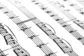 在纸上的音乐 — 图库照片