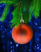 Red fir-tree toy — Stock Photo