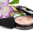 Stock Photo: Compact powder makeup