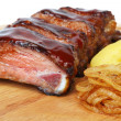Stock Photo: Pork ribs barbecue