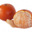 Mandarin purified isolated on a white background — Stock Photo