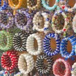 Colorful bangles at a market stall — 图库照片