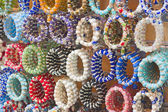 Colorful bangles at a market stall — Stock Photo