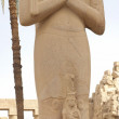 Statue in temple of Ramses 3rd at Karnak — Stock Photo