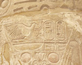 Hieroglyphic carvings at Karnak temple — Stock Photo