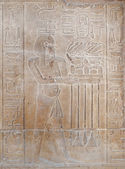 Hieroglyphic carvings on a wall at Luxor Temple — Stock Photo