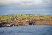 Small coastal town on the clifftops — Stock Photo