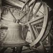 Stock Photo: Old bells in church tower