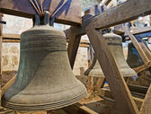 Old bells in a church tower — Stock Photo