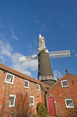 Windmill at a granary — Stock Photo
