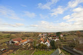 View over a farming village in the country — Stock Photo