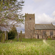 Stock Photo: English country village church