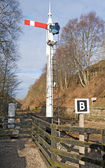 Old railway signal at junction — Stock Photo