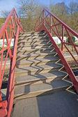 Foot bridge over a railway — Стоковое фото