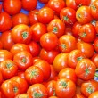 Tomatoes at a market stall — Foto Stock
