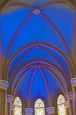 Domed ceiling inside a church — Foto de Stock
