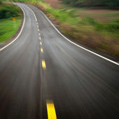 The road curves down — Foto Stock