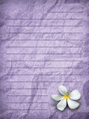 Purple grunge letter paper — Stock Photo
