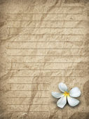 Old brown grunge letter paper — Stock Photo