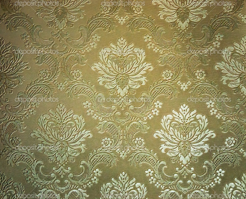 Light Brown tone Damask style wallpaper Pattern background — Stock Photo #3943731