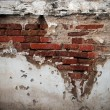 图库照片: Old broken brick wall