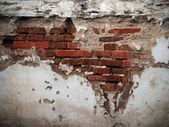 Old broken brick wall — Stock Photo