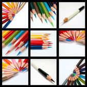 Cool tone color pencil — Foto de Stock
