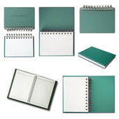 Green Notebook collection — Stock Photo