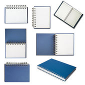 Blue cover notebook — Stock Photo