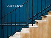 Stair up to second floor — Stock Photo