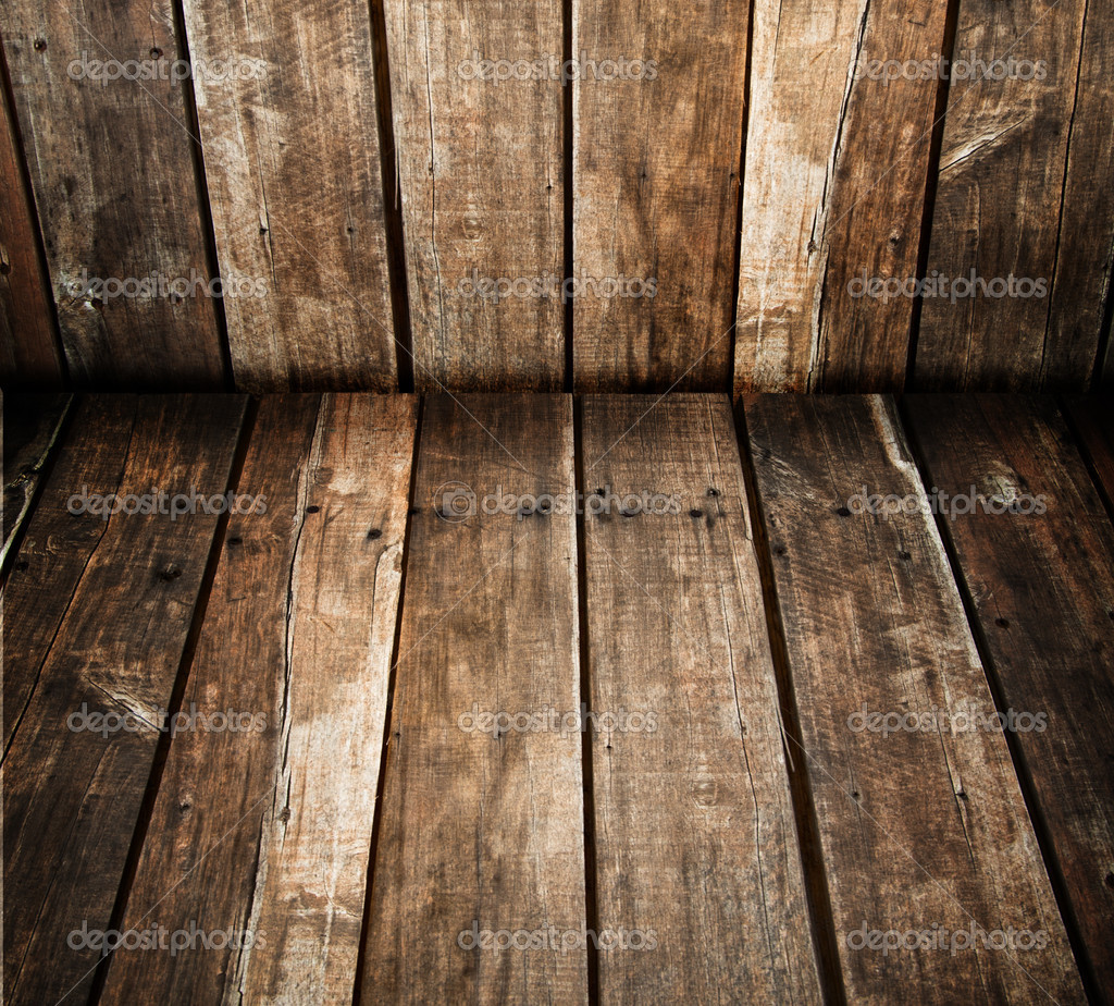 Conner of grunge wood room — Stock Photo #4014496