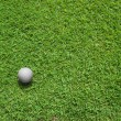 Top View of Golf ball — Stock Photo
