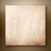 Papel antiguo en cuero marrón claro — Foto de Stock