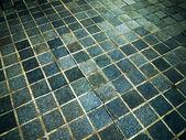 Blaue quadrat stein — Stockfoto